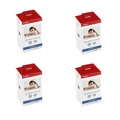4 Pks Canon KP-108IN Color Ink and 4x6 Paper Set for SELPHY CP910, CP900, CP810