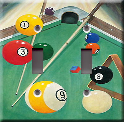 Billiards game play model 1 Pool table stick baton Light Switch Plate Cover