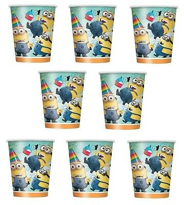 Lot of 8 Despicable Me Minions 9oz Paper Cup ~Birthday Party Favor Supplies~