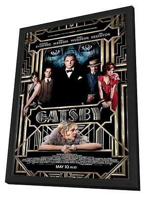 The Great Gatsby Movie POSTER 11 X 17 In Deluxe Wood Frame, Leonardo DiCaprio, A