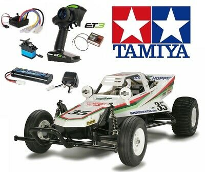 Tamiya 58346 The Grasshopper RC Kit - DEAL BUNDLE with Twin Stick Radio