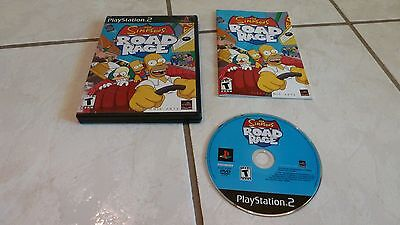 The Simpsons Road Rage  (PS2 PlayStation 2, 2001) Complete
