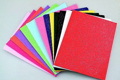 CPE EZ Glimmer Stiffened Felt, 9 X 12 in, Assorted Color, Pack of 25