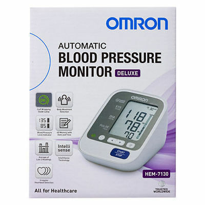 Omron Hem 7130 Deluxe Upper-Arm Blood Pressure Monitor 5 Years Au Warranty
