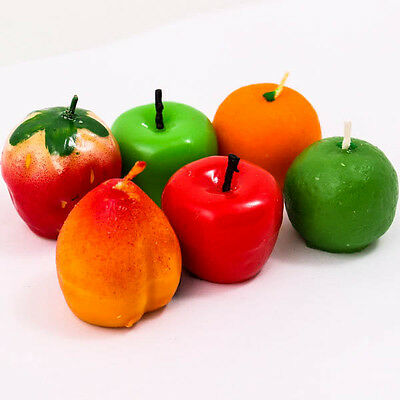 Upick Fancy Fruit Apple Strawberry Apple Orange Wax Candle Party Decorate A0209