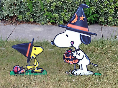 Snoopy And Woodstock Halloween Yard Art Decoration