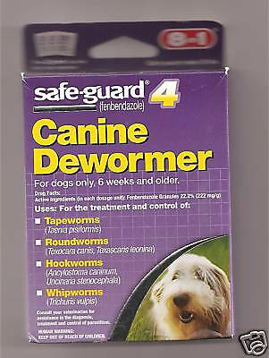 NEW SAFE-GUARD 4 CANINE DEWORMER FOR DOGS 8 IN 1 2 GRAM SEALED