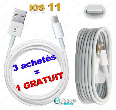 CABLE iPHONE 8 7 6 SE 5 PLUS USB CHARGEUR CHARGER iPAD 4/Air/mini iTOUCH NANO 7