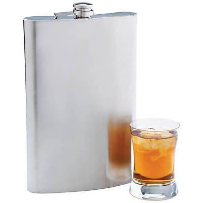 New JUMBO BIG 64 oz FLASK Stainless Steel Party Screw Cap Liquor 1/2 Gallon Size