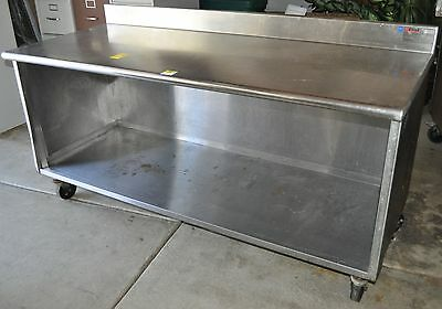 """6 Foot Heavy Duty Stainless Steel Cabinet Work Prep Table 72"""" x 30"""" w/ Casters"""