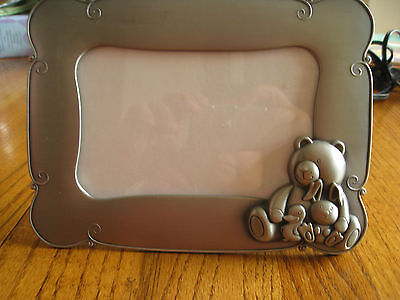 "GREEN TREE GALLERY NURSERY ~ BABY  4"" X 6"" PHOTO FRAME (BEAR-BUNNY & DUCK)"