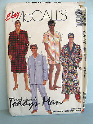 MCCALL\'S TODAY\'S MAN Sewing Pattern Men\'s SHIRTS 2379 Chest 42 ...