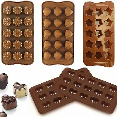 Silicone Chocolate Mould Tray Round Icing Sugar Craft Cake Jelly Baking Ice