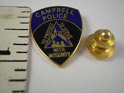 CAMPBELL  POLICE  MINI-BADGE/PATCH LAPEL PIN