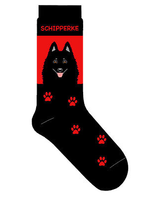 Schipperke Socks Lightweight Cotton Crew Stretch Egyptian Made