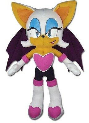 "Sonic the Hedgehog - Rouge 8.5"" Plush Figure Sega GE-87542 NEW Licensed"