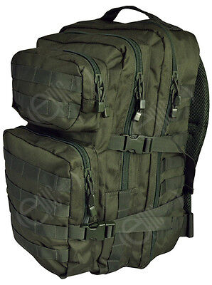 OLIVE GREEN Molle RUCKSACK Military Assault Large 36L BACKPACK Tactical Army