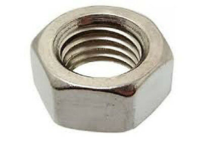 Stainless Steel M12 X 1.25 Fine Thread Hex Nut 5 Pack
