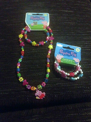 Adorable Peppa Pig Jewellery Set Great For Xmas Bnwt So Cute
