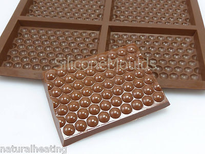 4 cell Medium BUBBLE WRAP (78g) Chocolate Bar Mould Professional Silicone Mold
