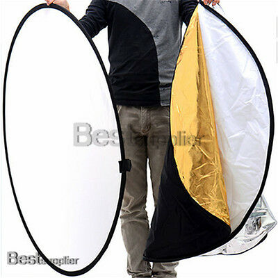 """8in1 43"""" 110CM Collapsible Multi Lighting Reflector Set Photo Studio Photography"""
