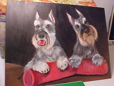 Schnauzer Original Painting By Monique