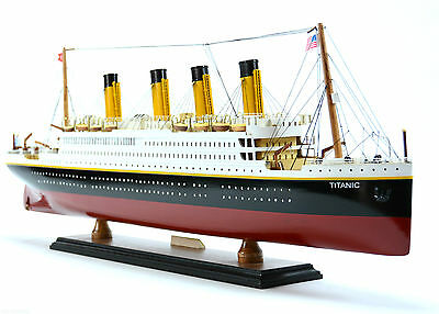 "RMS Titanic Cruise Ship 24"" - Handmade Wooden Model Ship NEW"