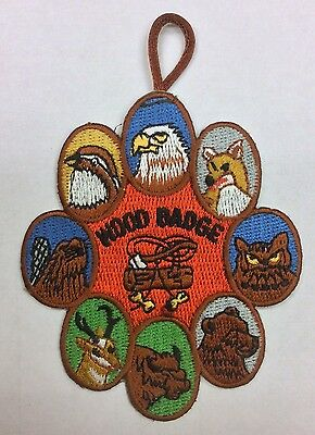 Wood Badge Patch - 8 Critters w/button loop