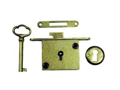 Polished Brass Chest Lock Full Mortise/Furniture Lock N8384 03