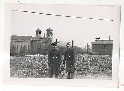 WWII Soldiers, Snow, ST JOHN'S, Newfoundland, NL CANADA Vintage 1943 Photograph