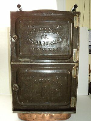WONDERFUL ANTIQUE TOLEDO TIN COOKER MADE IN 1907 MUST SEE!!