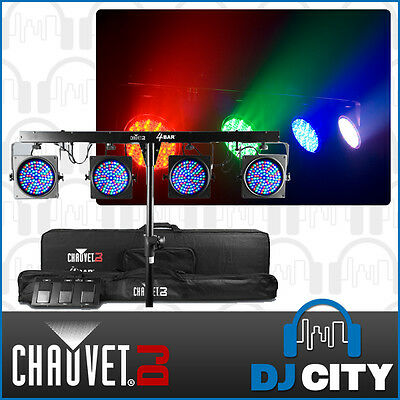 Chauvet DJ 4Bar 4 x LED Parcan w/ In-Built DMX Lighting Bar + Foot Switch + Bags