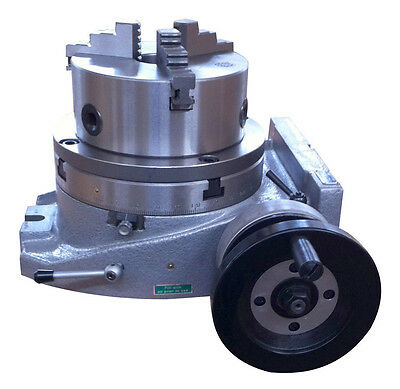 "The adapter and 3 jaw chuck for mounting on a 6"" rotary table"