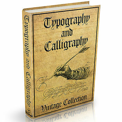 Calligraphy Penmanship and Typography Books -  MASSIVE 190 Vintage Books on DVD