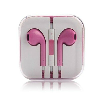 Lot Of 5 New Headset Handsfree 3.5 With Remote & Mic Universal 5 5S 5C Pink