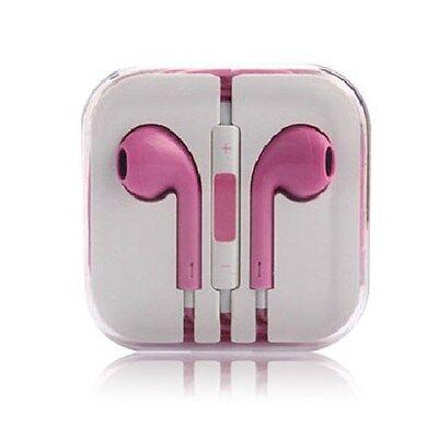Lot Of 4 New Headset Handsfree 3.5 With Remote & Mic Universal 5 5S 5C Pink
