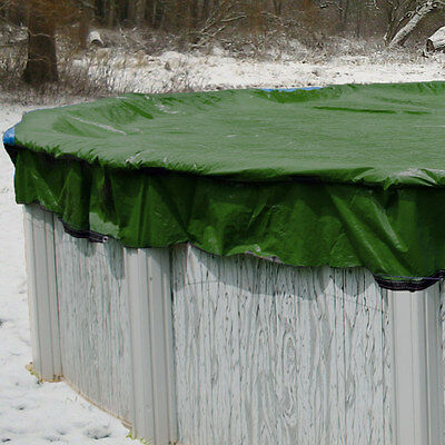 30' Round Above Ground Swimming Pool Winter Cover 12 Year - Includes Cover Clips