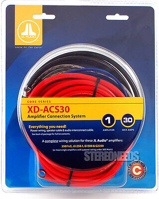 JL AUDIO XD-ACS30 8 GUAGE AWG AMPLIFIER AMP WIRE INSTALLATION KIT SPEAKER WIRE