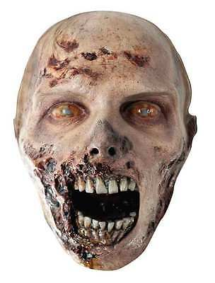 The Walking Dead Official Eroded Zombie Single Card Face Mask. Scary Party Fun!