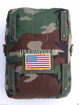 New Made in USA Military Army Molle 2 Woodland Camouflage Sustainment Pouch Gear