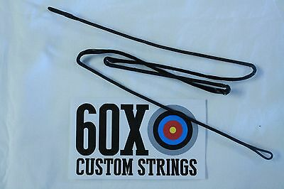 60X Custom Strings D97 Compound Bowstring Black Choice of Length Bow String