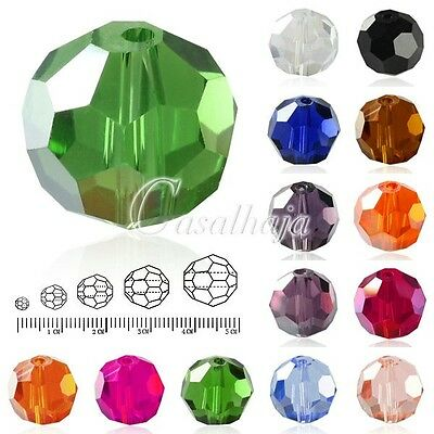 72Pcs Loose Facted Round Crystal Spacer Beads For Jewelry Making Finding 8x8mm