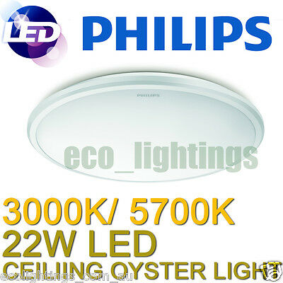 Philips LED Oyster Ceiling Light Fitting 22W Slimline (Replace Circular Fluoro)