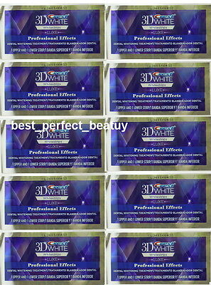Crest 3D White Whitestrips Luxe Professional Effects 10 POUCH 20 STRIPS New