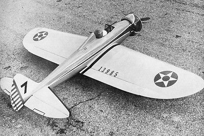 """Model Airplane Plans: P-26 PEA-SHOOTER 61"""" UC Stunt for .35-.60 by Jack Sheeks"""