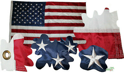 USA Fahne mit 50 gestickte Sterne, Wetterfeste Flagge US American Flag, 150x85cm
