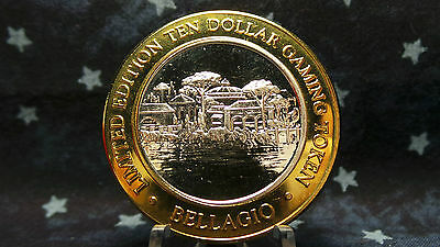 Bellagio, Las Vegas, NV Limited Edition $10 Gaming Token .999 Fine Silver  BC 71