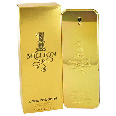 1 MILLION 200ml NEW MEN EDT PERFUME MENS COLOGNE FRAGRANCE SPRAY by PACO RABANNE