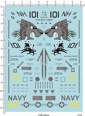 1/48 decals for F14 F-14 model kits (518)