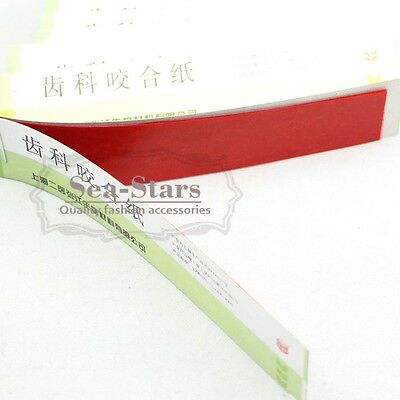 New Bid Type Articulating Paper Red Thin Strips 10 Sheets/book 20 Books/Box